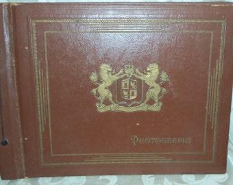 VIntage Antique 40s/50s Large Photograph Book