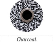 Charcoal - Black and White Baker's Twine by The Twinery - 240 yard spool