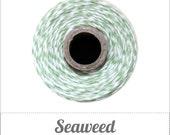 Seaweed Twine Spool - Mint Green & White - 240 yards
