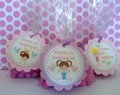 Gymnastics Party Favor Tags, Set of 12