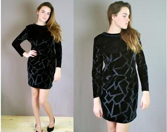 Vintage Velvet Body Con Dress