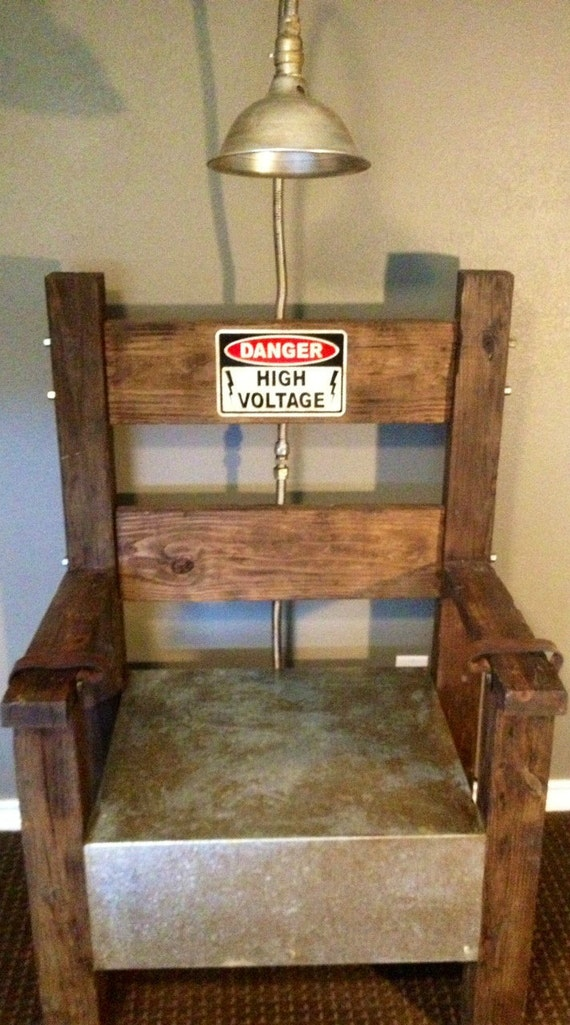 Electric chair prop working replica party decoration on etsy