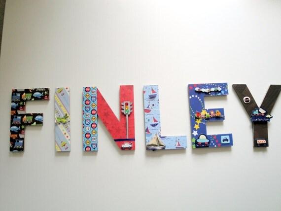 Transportation Nursery Wall Letters 3D By BearySpecialScrappin