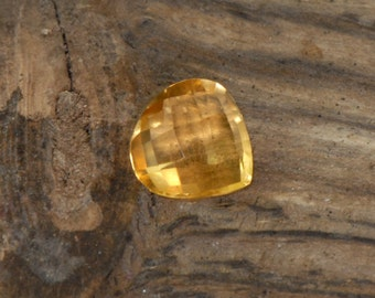 Citrine Faceted Pear Cut natural gemstone 1.5 cts VVS