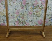 Handmade wood cloth rack stand Miniature for doll clothes display showroom