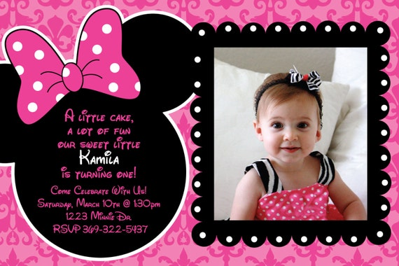 Minnie para imprimir para cumpleaños con detalles de cebra - Imagui
