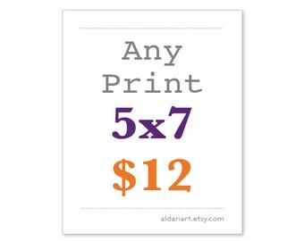 5x7  Any Print