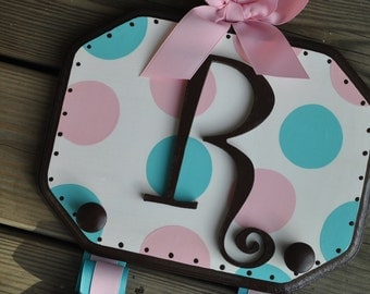 Bow Holder - SIMPLICITY Design -  Handpainted and Personalized Hair Bow Holder