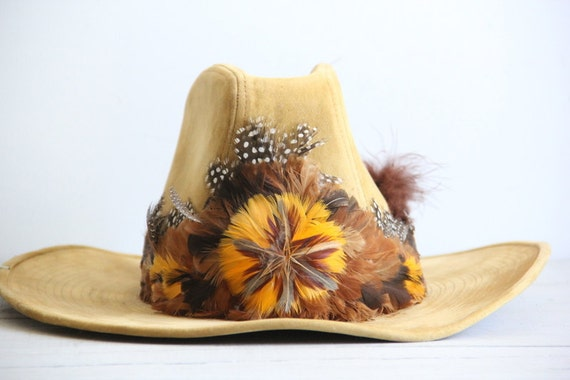 vintage western cowboy / cowgirl hat / southwestern rustic accessories