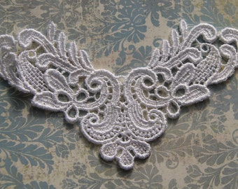 White Venise Lace Applique Bridal