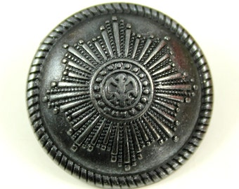Metal Buttons - Eagle Emblem Metal Buttons , Black Gunmetal Color , Shank , 1 inch , 8 pcs