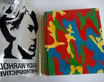 First Edition Hard to Find Vintage 1989 ANDY WARHOL a RETROSPECTIVE moma Missing Mylar Cover 460 Prints Within to Frame Cut Upcycle