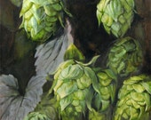 Hops, Print from Oil Painting