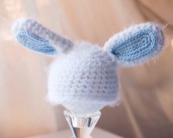Bunny Halloween Costume, Baby Rabbit Hat, Bunny Costume, Newborn Halloween Costume, Infant Halloween Costume, Baby Bunny Costume, Bunny Hat