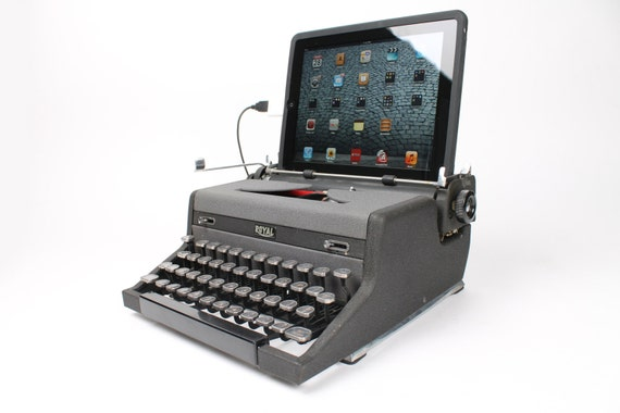 USB Typewriter Computer Keyboard -- WWII-Era Royal Deluxe Portable