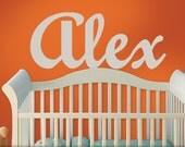 BIG Name Decal, Baby Nursery Wall Art, Boys, Girls, Teens, Toddler, Bedroom Decor, Alex, Fog Gray