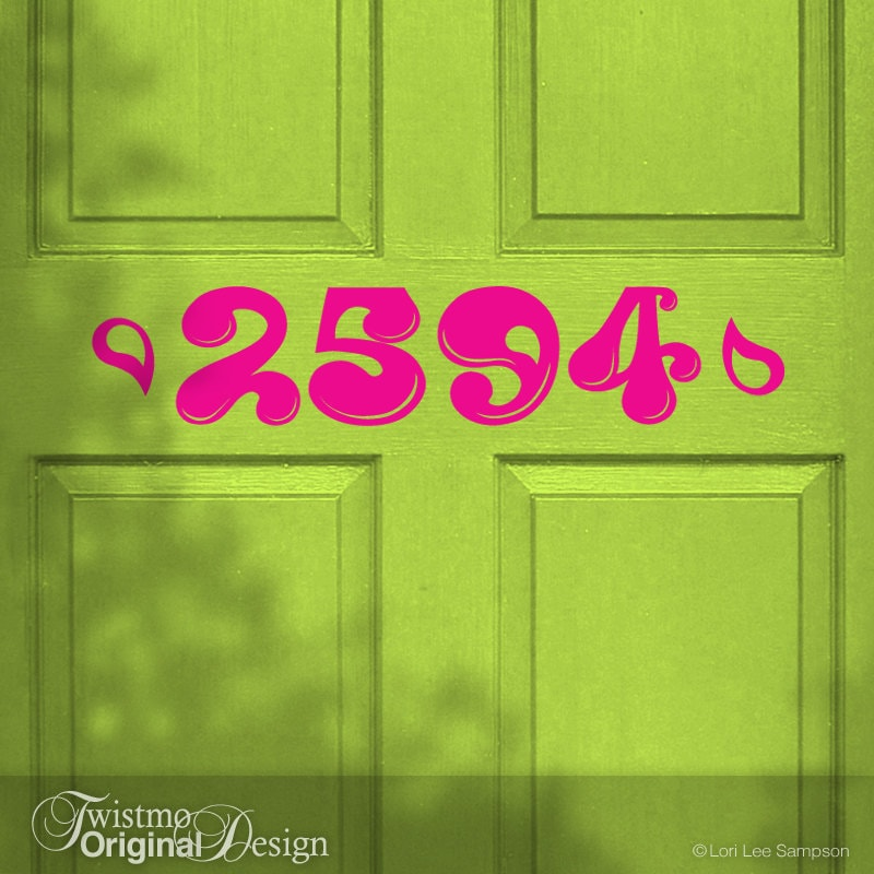 House Number Decorative Apartment Number Vinyl Decal - Custom vinyl decals numbers