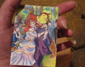 Dance at Bougival, Renoir's classic, art trading card (not a print)