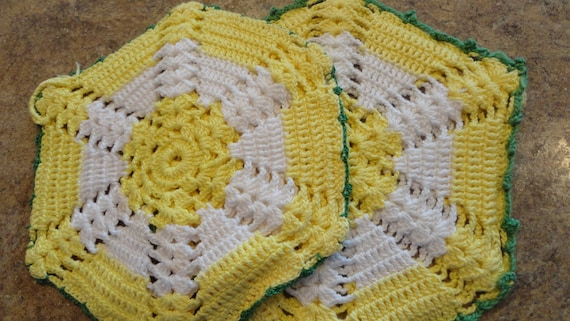 Handmade Crochet Hot Mat Pads, Tea Pot coaster