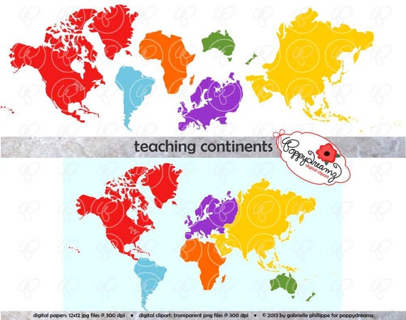 Teaching continents digital clip art north america south america teaching continents digital clip art north america south america europe asia africa australia world map teaching resources clipart from poppydreamz on etsy gumiabroncs Gallery