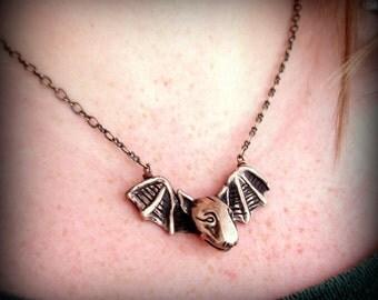 Bat dog necklace bullterrier