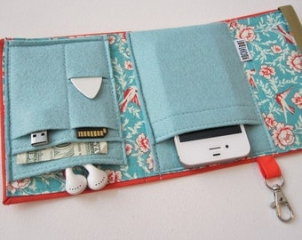 Nerd Herder gadget wallet in Melon Melody for iPhone 5, Android, iPod, Blackberry, digital camera, smartphone, guitar picks
