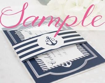 Nautical Wedding Invitation Sample