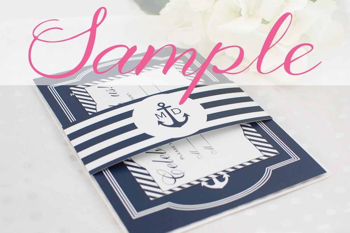 Nautical Wedding Invitation Wording: Nautical Wedding Invitation Sample