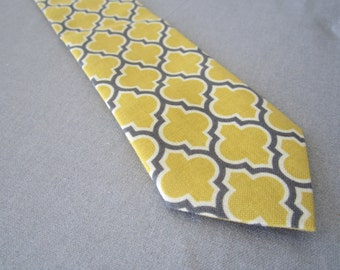 Boys Tie - Boys Mustard Tie - Kids Ties - Mustard Ties - Ring Bearer Tie - Wedding Ties - Boys Tie in Mustard and Charcoal