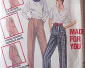 Woman's Vintage Pattern - Front Pleated Pants - McCall's 2315 - Size 14, Waist 28, Uncut
