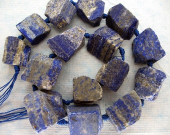 Large Natural Raw Lapis Lazuli Nugget Beads
