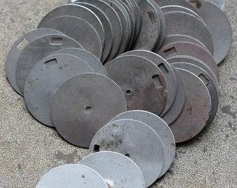 Vintage clock parts -- discs -- D17