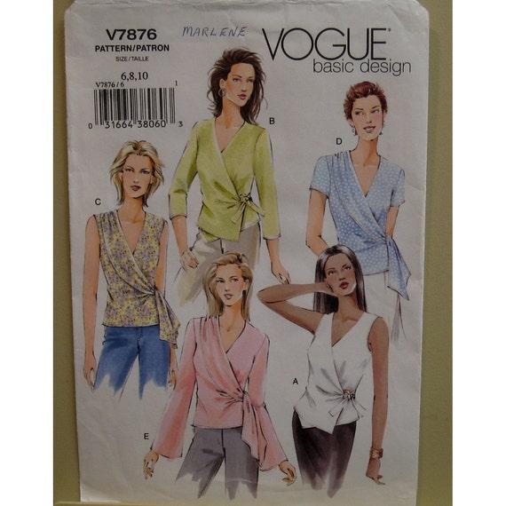 Side Wrap Blouse Pattern V Neck Side Tie Sleeveless Short