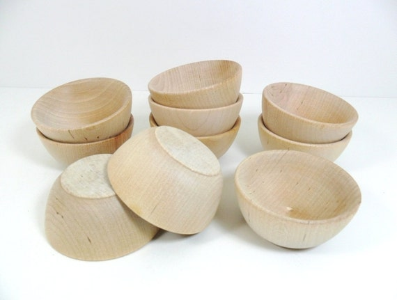 10 Wood Bowls 2 1 2 6cm Ring Cups Ring Bearer