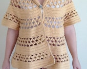 Yellow Woven Vintage Bell Sweater