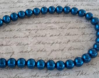 Pearls Deep Dark Blue Small 10mm Glass