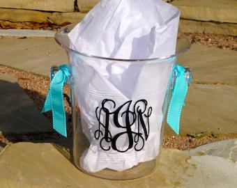 Personalized Ice Bucket - Monogram Wine Cooler - Acrylic Wine Bucket