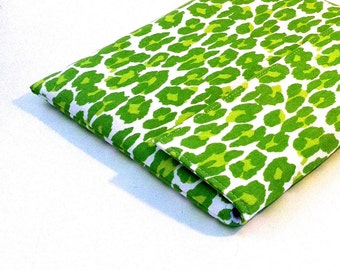 iPad Case, iPad Cover, iPad Sleeve in Modern Green Leopard