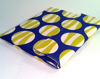 iPad Case, iPad Cover, iPad Sleeve in blue, lime and cream