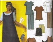 SIMPLICITY 9294  Womens Dress Tunic Top JumperPants Shorts Pattern  sz 26W-32W  Bust 48-54 UNCUT Easy