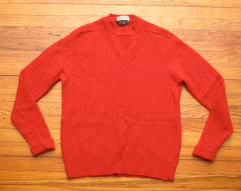 mens vintage lacoste cable knit sweater