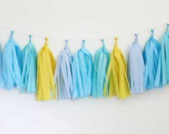 DIY Tassel Garland Kit - Yellow, Powder, Oxford, Aqua : Poolside