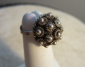 Adjustable Vintage ASC Dome Ring