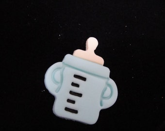 Modern Lavendar Baby Bottle Fondant Cupcake Toppers