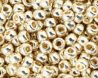 Seed Beads-8/0 Round-PF558 Galvanized Aluminum-Toho-16 Grams