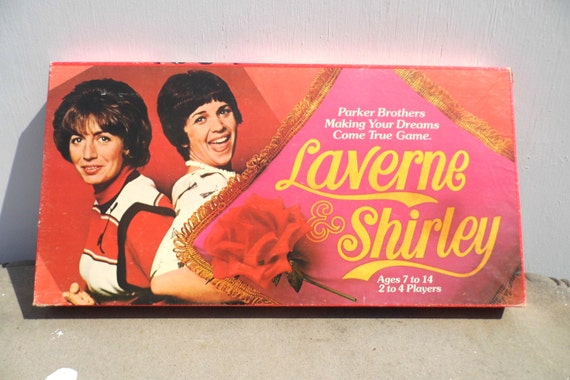 laverne and shirley board game vintage game 1970s tv. Black Bedroom Furniture Sets. Home Design Ideas