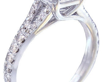 18k white gold asscher diamond engagement ring prong set 2.00ctw