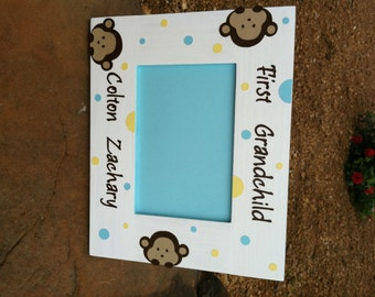 Monkey Picture Frame for Grandchild