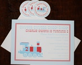 Train Invitation and Note Cards