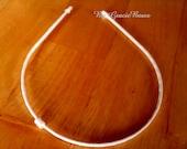 Grosgrain Wrapped Interchangeable Headband in White